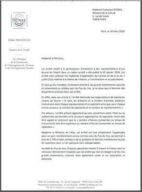Un arrêté du Gouvernement met en péril le Puy du Fou