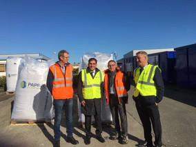 Visite des sites de recyclage de l'entreprise Paprec
