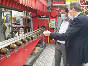 Visite de l'usine Aluminia à Saint Aubin la Plaine