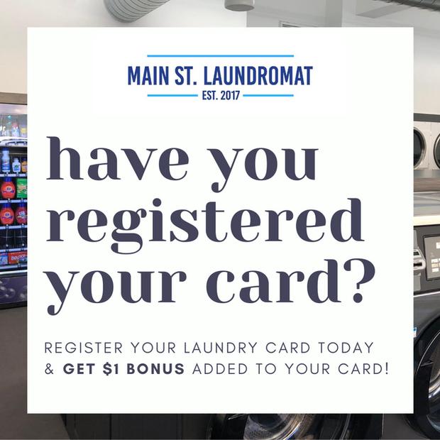Register Your Laundry Card Get $1 Bonus