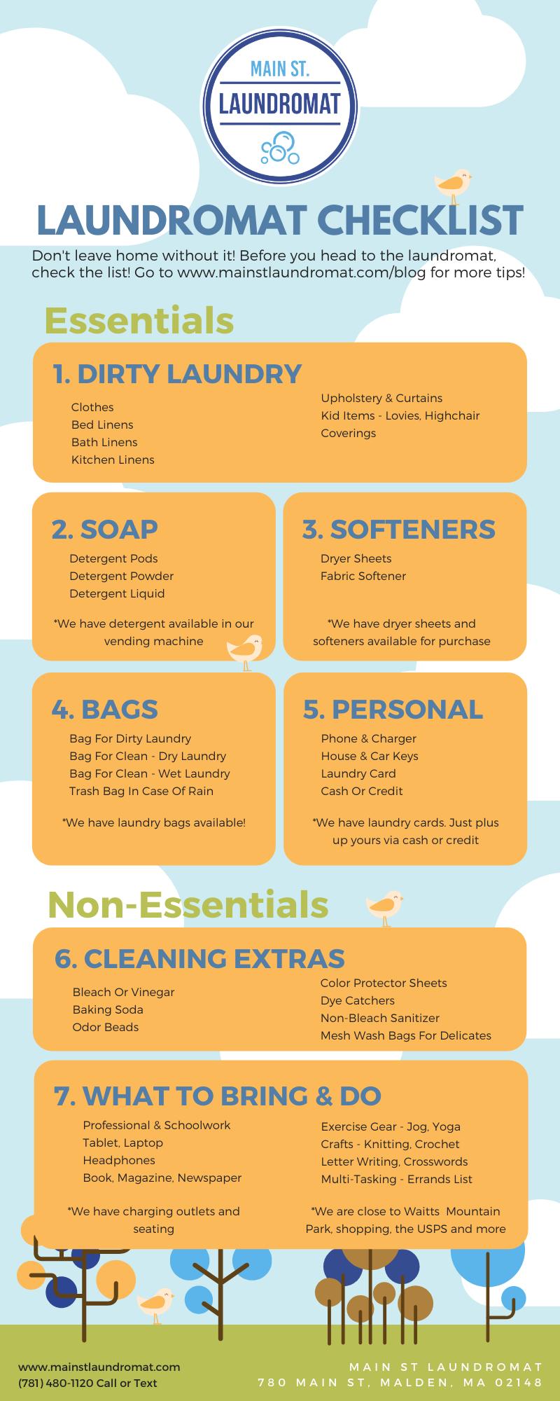 Laundromat checklist