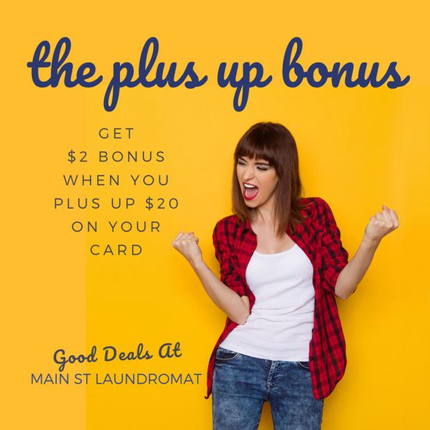 Plus Up $20 Get $2