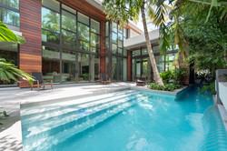 Pool with Swim Lane for Laps
