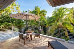 Private Terrace Enhances the Master Bedroom Suite
