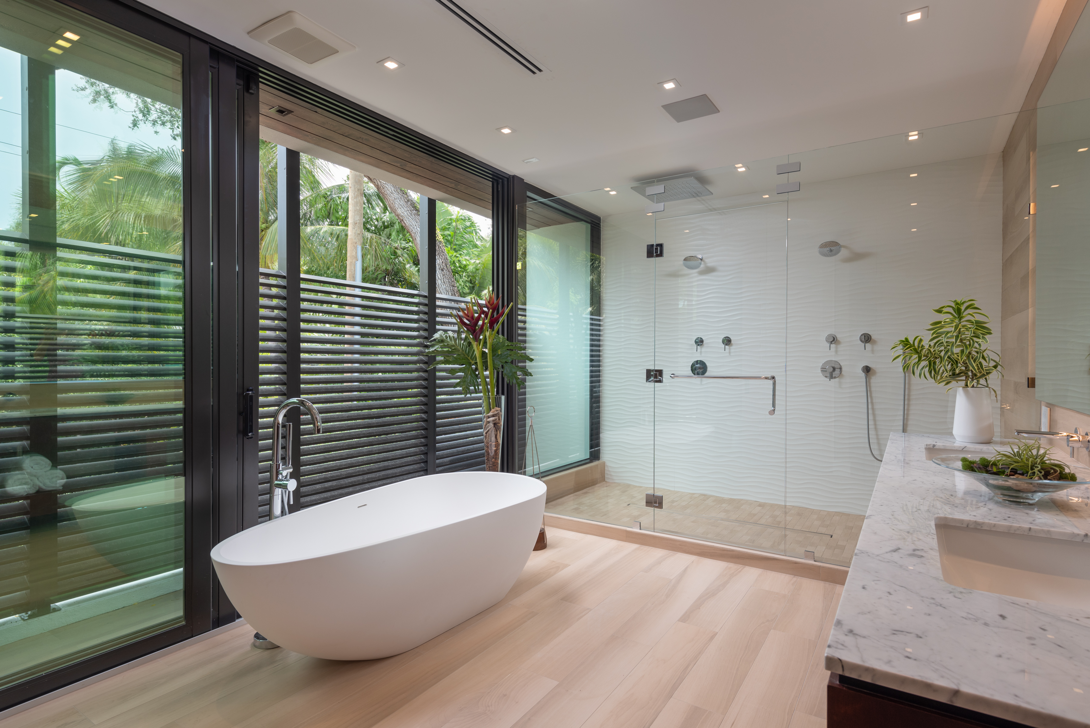 Master Bathroom Suite with Private Juliette Balcony