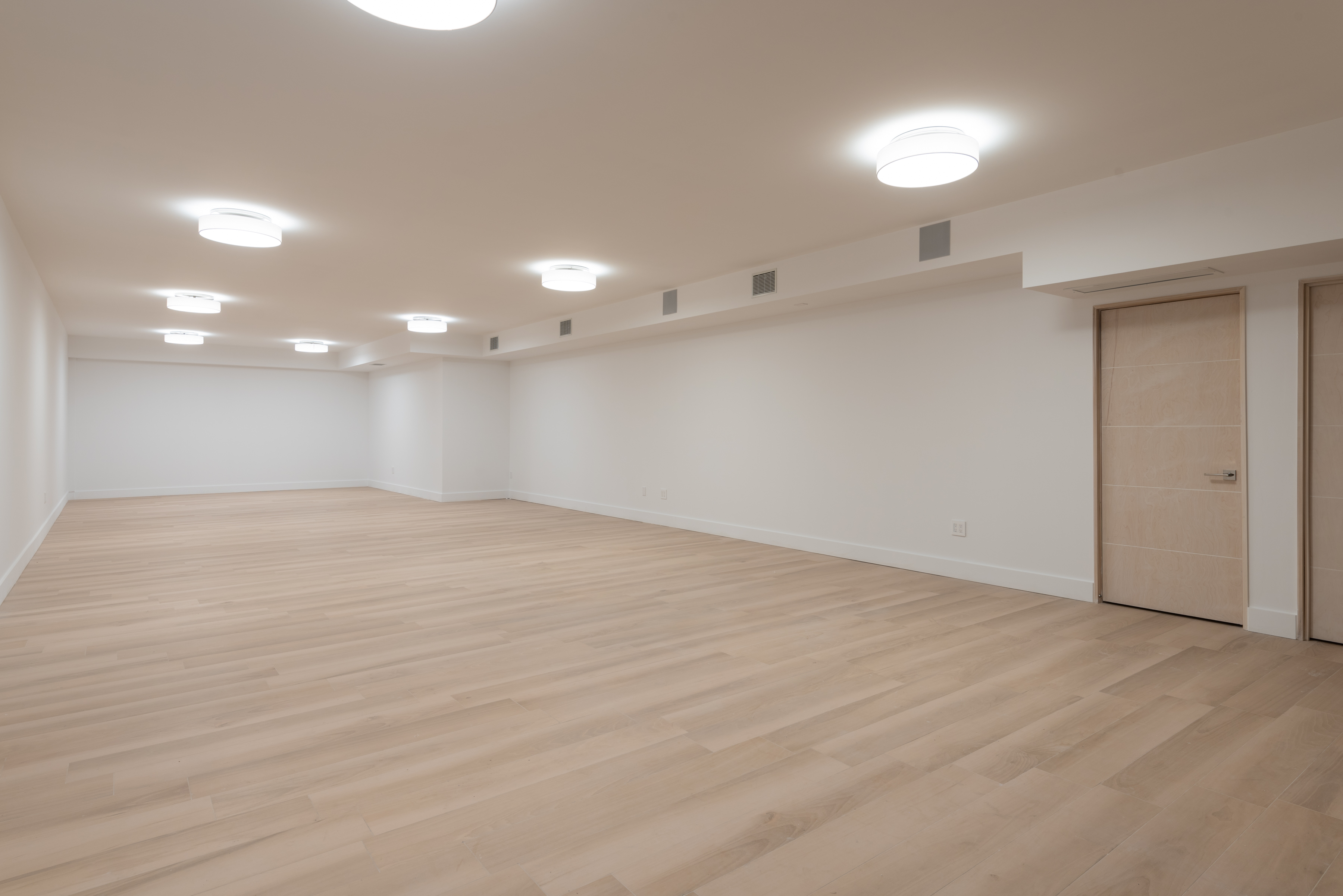 Air-conditioned 1380 sf Basement with Elevator
