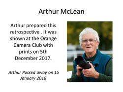 Arthur McLean header