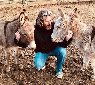 William with Donkeys