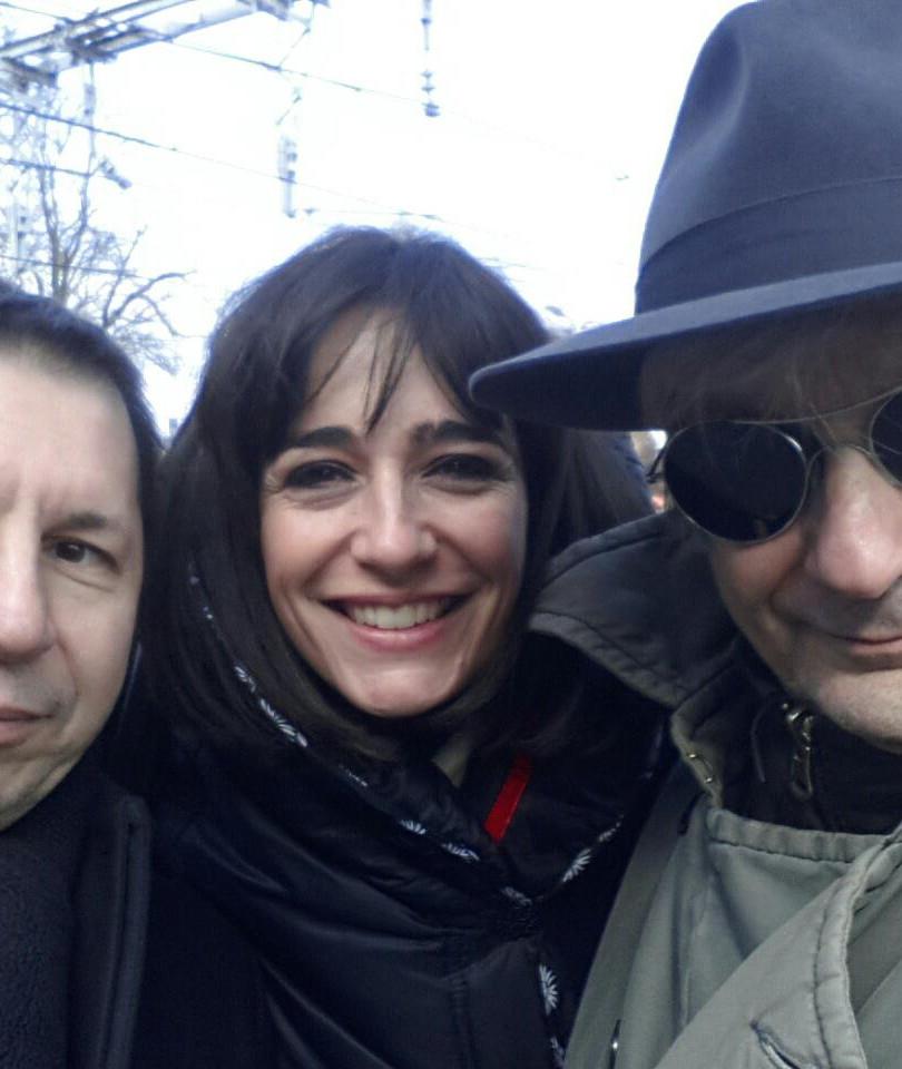 Avec mes compères Boris Bergman et Olivier Cachin