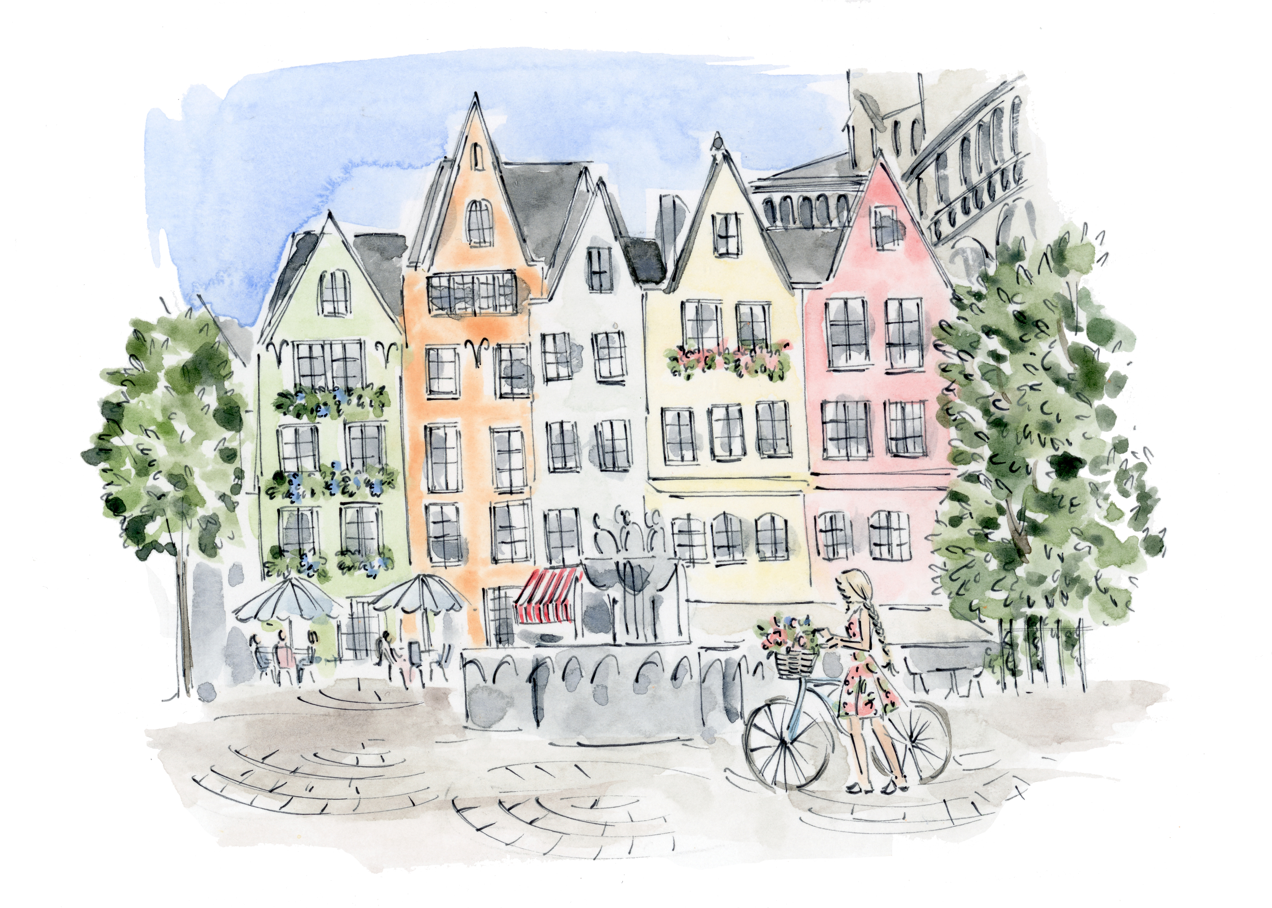 Cologne illustration for BFB Hair