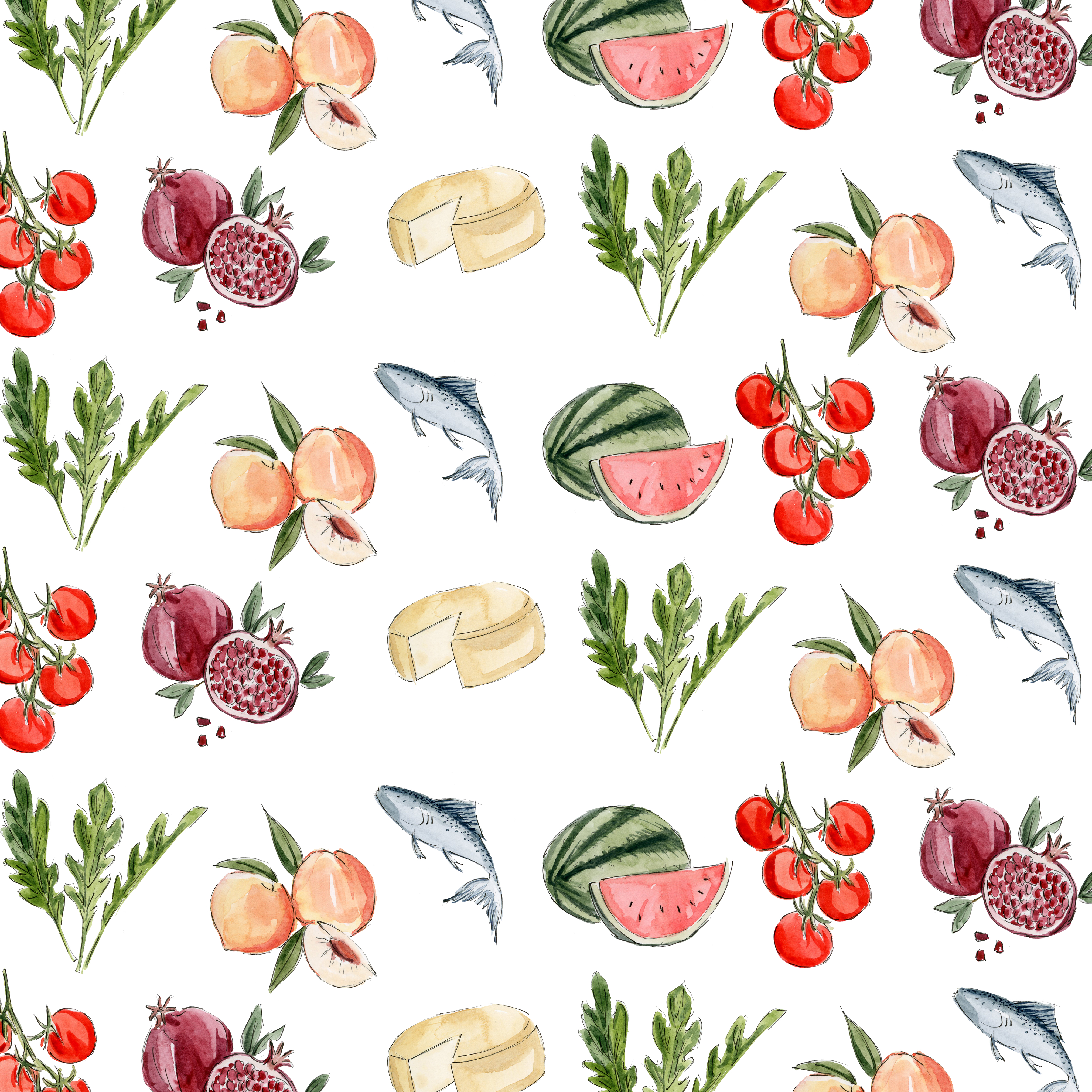 Illustrated menu items