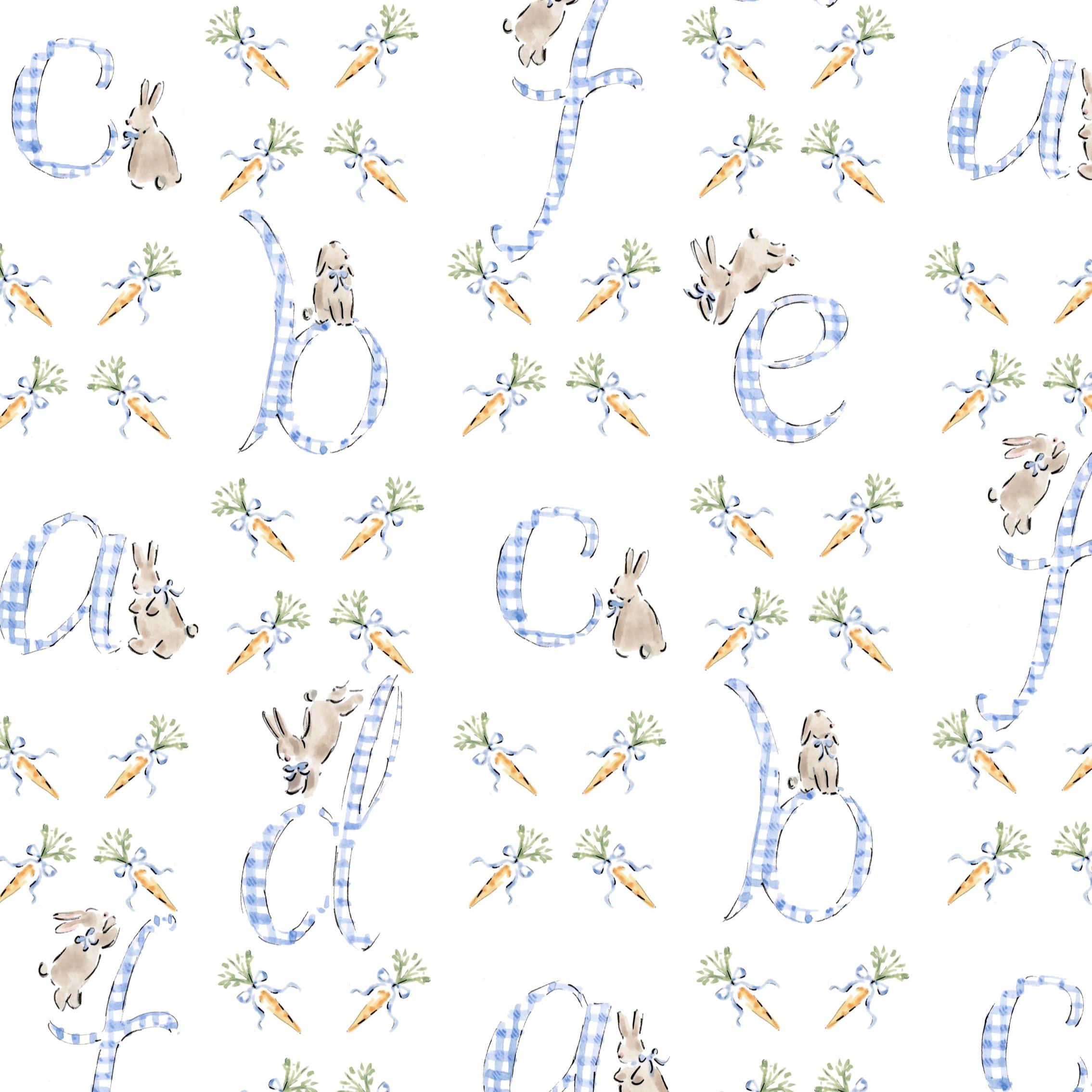 Alphabet pattern with bunnies
