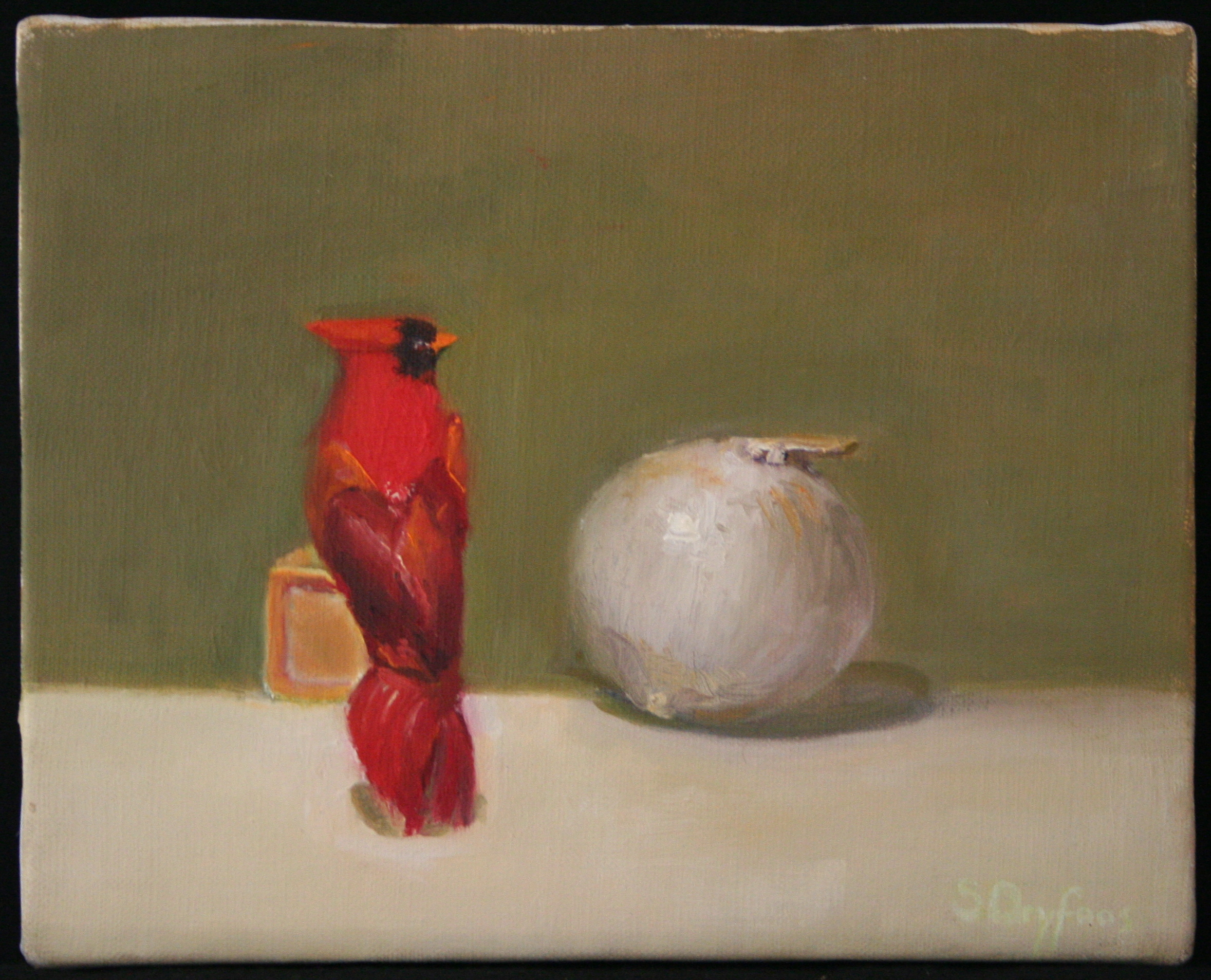 Cardinal and Onion