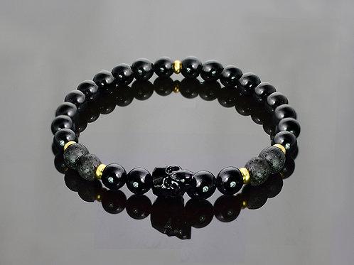 Gold & Volcanic - skull bracelet