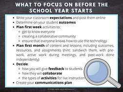 What to focus on before classes start infographic