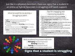 Signs that a student is struggling infographic