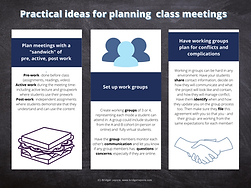 Practical ideas for planning class meetings infographic