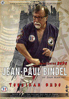 AFFICHE rencontre BUDO JEANPAUL BINDEL 2