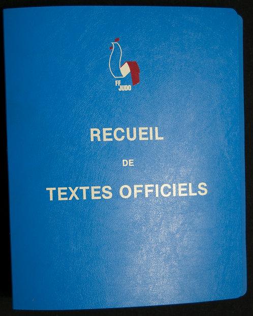 Recueil de textes officiels de la fédération française de Judo