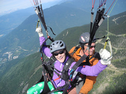 Paragliding over the Columbia Valley