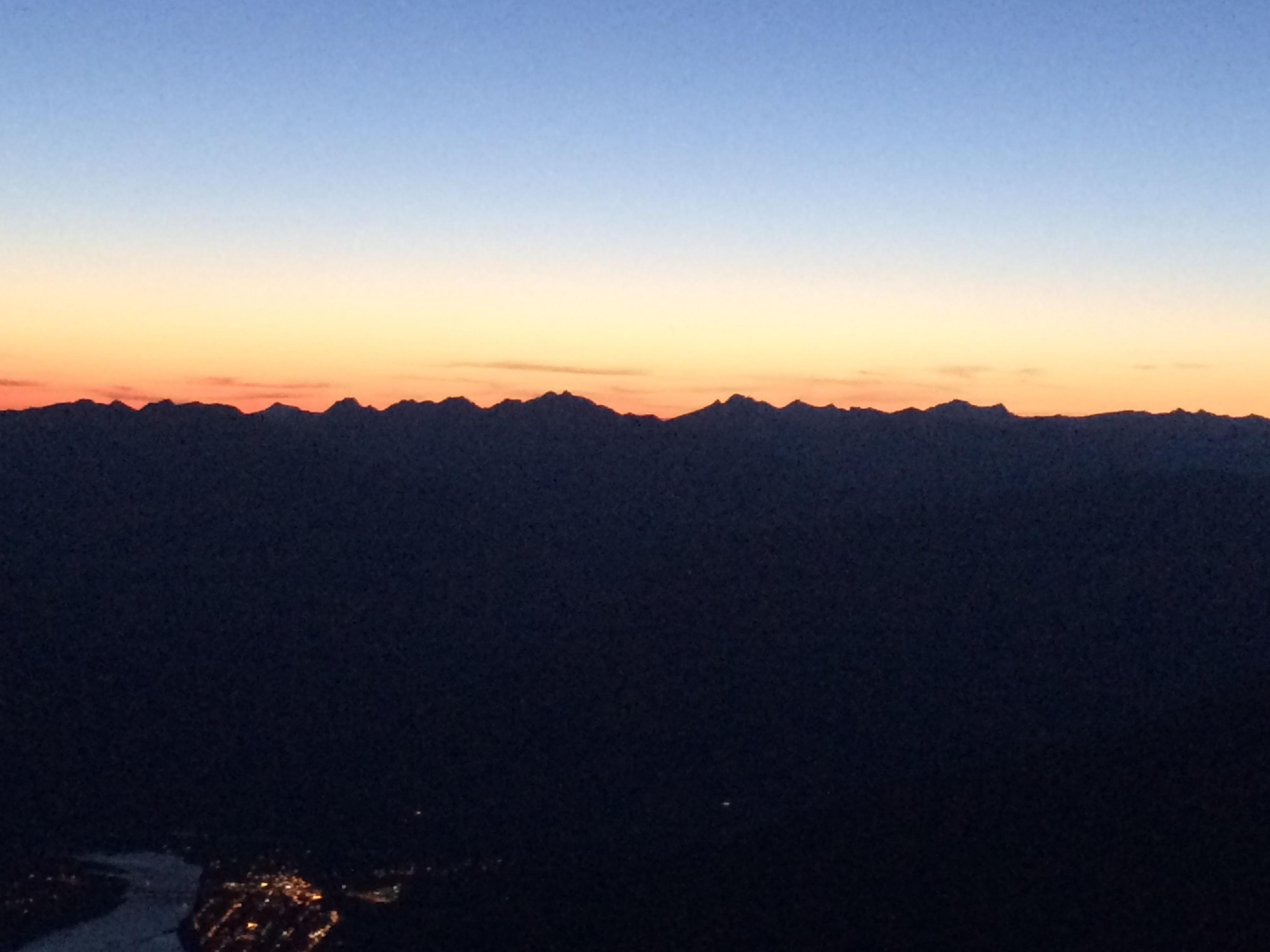 Sunset on the Monashees