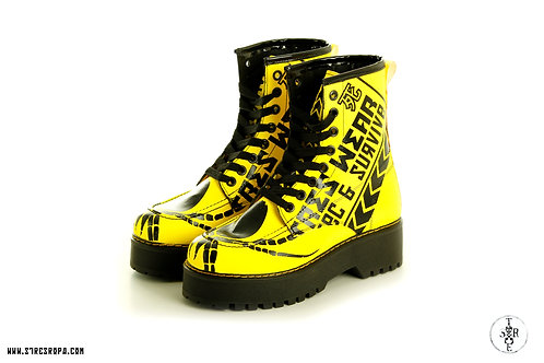 Bota plataforma amarila
