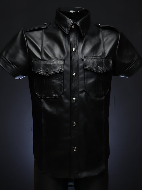 Camisa leather piel de borrego