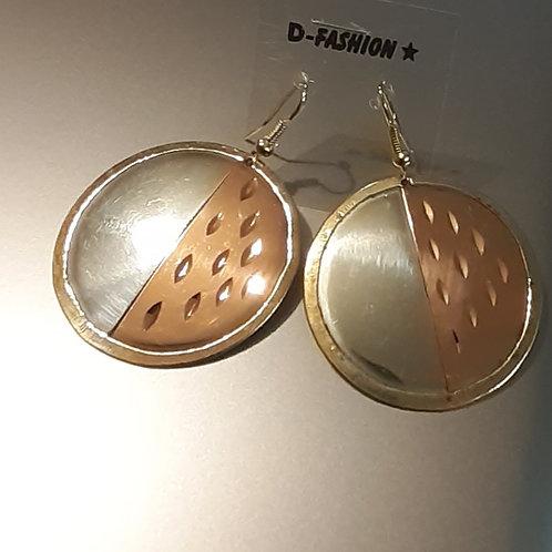 Copper Two Tone Earings