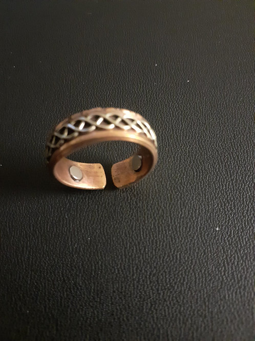 Copper Ring + Magnets Unisex Size V