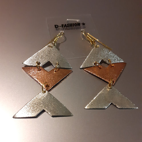 Copper Pyramid Earings