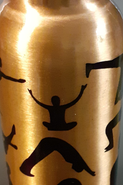 Copper water bottle-Yoga Pose