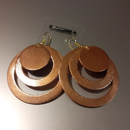 Copper Spiral Earings