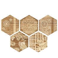 six angle brick wood tile PM250012-H1