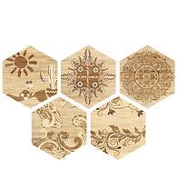 six angle brick wood tile PM250011-H1