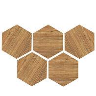 six angle brick wood tile PM250012