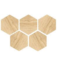 six angle brick wood tile PM250011