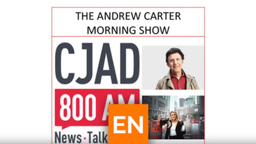 Entrevue radio - The Andrew Carter show