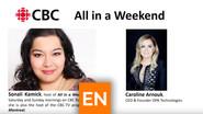CBC Entrevue avec Sonali Kamick