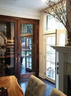 Custom wine cellar door