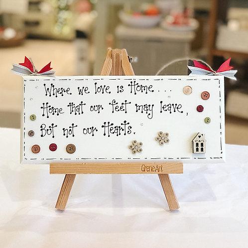 Home Quote Plaque