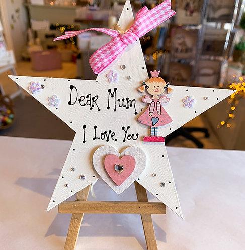 'I Love You' Mum Plaque