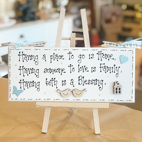 Home & Family Quote Plaque