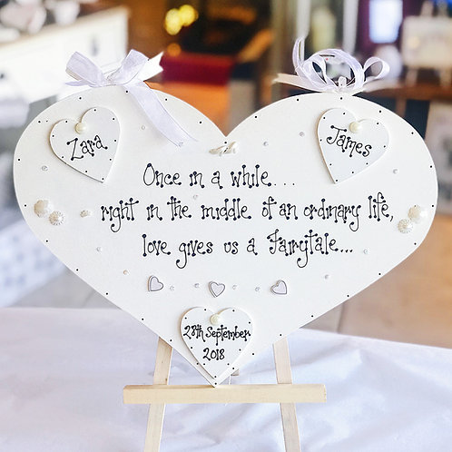 Deluxe Wedding Plaque incl. Bride, Groom & Date