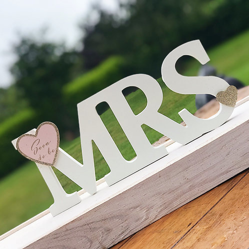Mrs To Be Letters