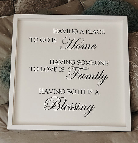 'Having a Place to Go' Family Frame