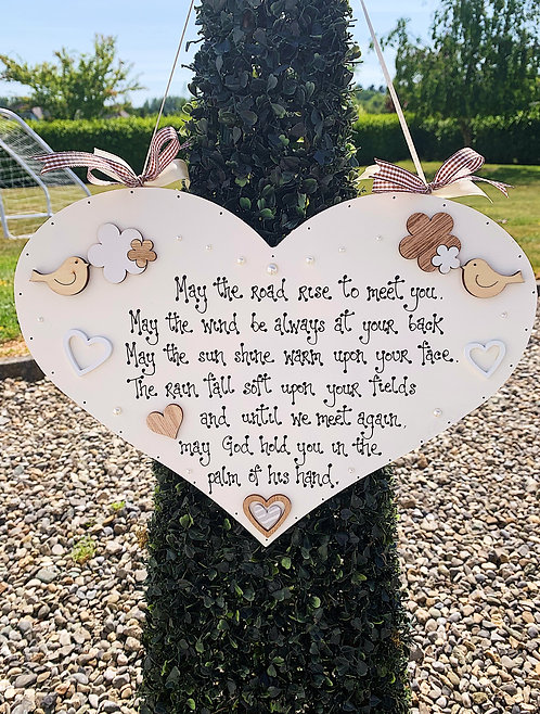 'May The Road Rise..' Quote Plaque