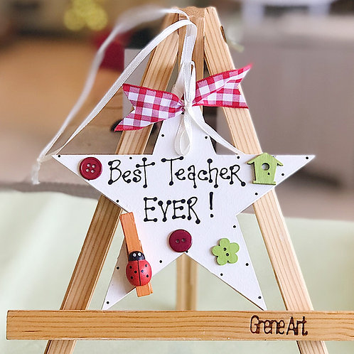 Best Teacher Plaque