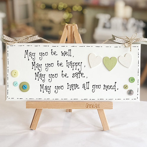 'Safe & Well..' Quote Plaque