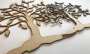 Laser cut wooden family trees by Handmade For U