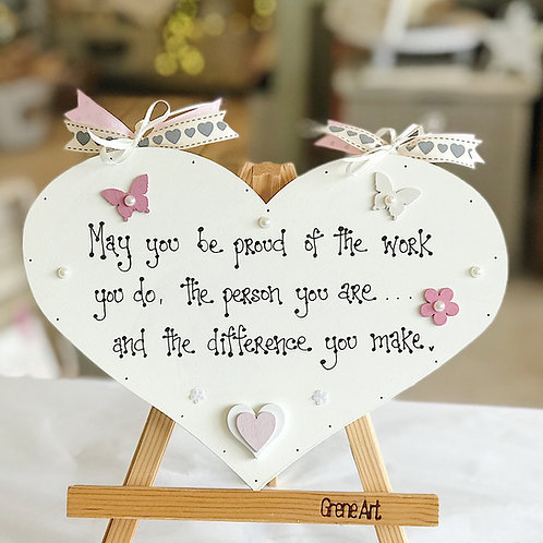 'Difference You Make..' Quote Plaque